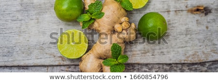 Ginger, lime and mint ilooks like a tree BANNER, LONG FORMAT Stock photo © galitskaya