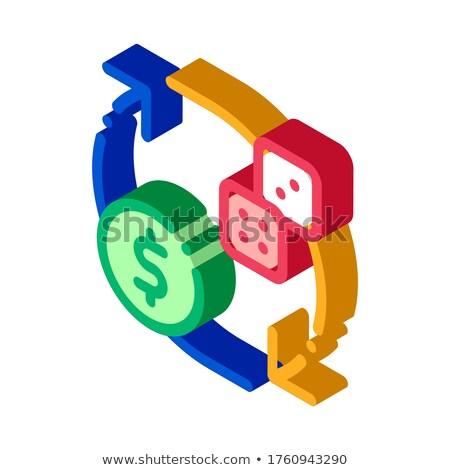 Intercambio signo dados dinero juego Foto stock © pikepicture