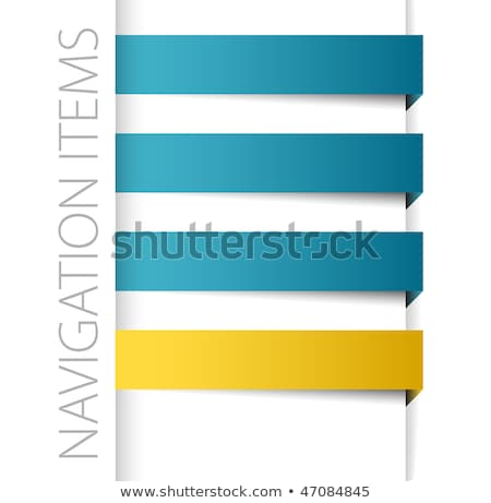 Stock photo: Modern blue navigation items