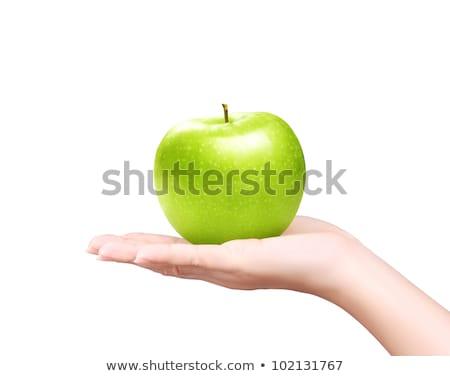 女性 · 手 · 緑 · リンゴ · 明るい · 画像 - ストックフォト © dolgachov