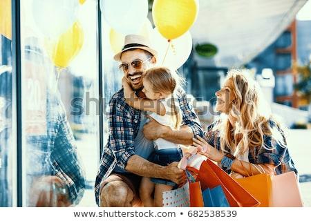 Család bolt négy mosoly arc boldog Stock fotó © Paha_L