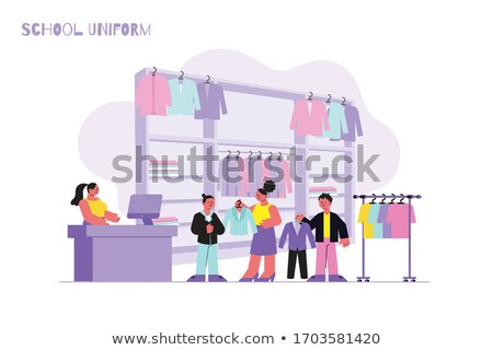 Boy tries on  jacket in shop Stock photo © Paha_L