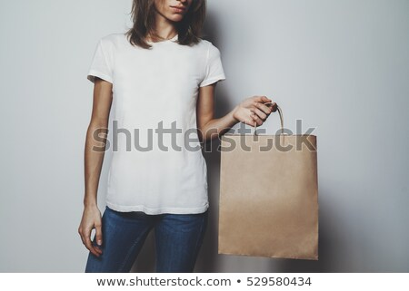 Womens blank brown t-shirt Stock photo © posterize