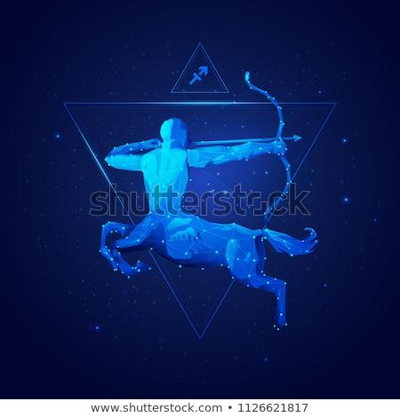Black zodiacs sagittarius Stock photo © cidepix