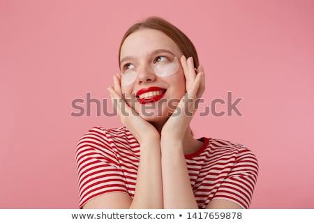 Stock fotó: Red Lips Closeup
