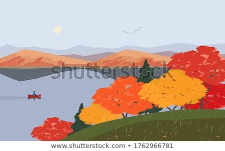 erdő · ősz · színek · fenséges · égbolt · tájkép - stock fotó © wjarek