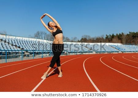 atlet · sıcak · yukarı · atletizm · çalışma · izlemek - stok fotoğraf © darrinhenry