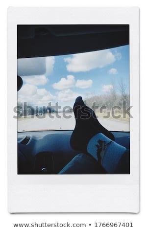 Izolált fehér keret fekete retro fotó Stock fotó © leeser