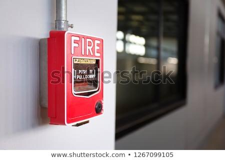 tűzjelző · izolált · fehér · ház · otthon · technológia - stock fotó © leeser