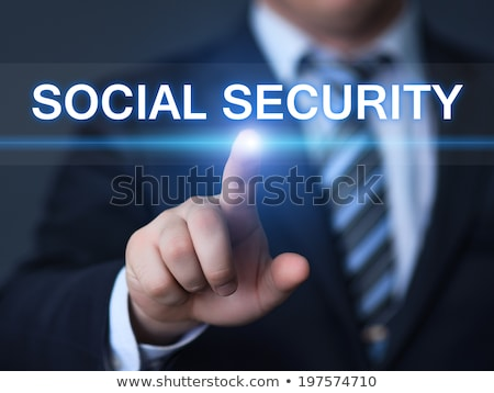 Social security background with texts Stock photo © deyangeorgiev
