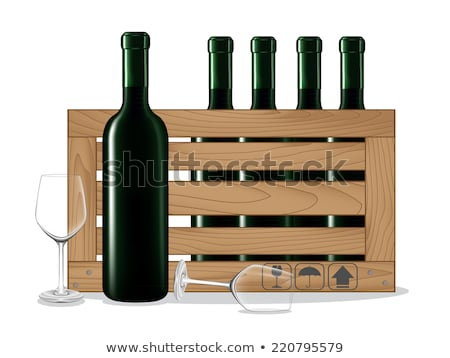 champagne in wooden box Stock photo © pterwort