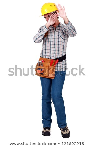 craftswoman protecting her face Stock photo © photography33