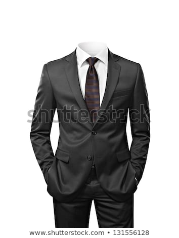 ビジネスマン スーツ 男 見える カメラ 折られた ストックフォト © leedsn