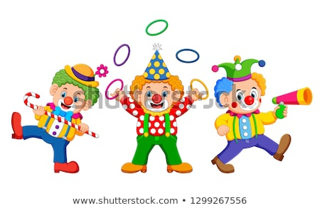 Cartoon clown visage heureux sourire drôle Photo stock © blamb