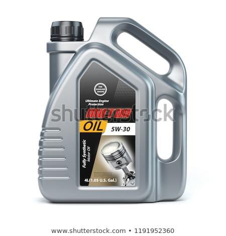 motorolie · fles · geïsoleerd · witte · industrie · vloeibare - stockfoto © ozaiachin