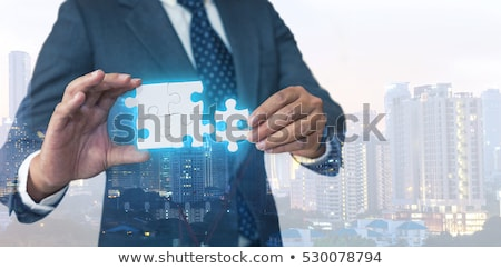 Stock fotó: üzlet · megoldások · üzletember · rajz · b-terv · jelző