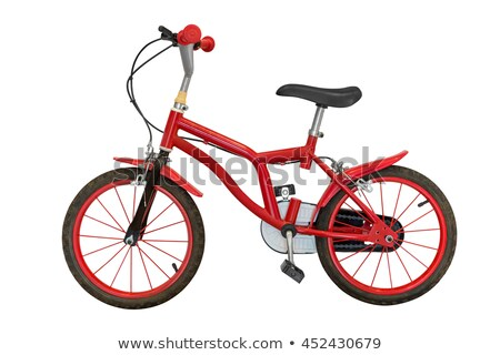model of a red framed bicycle Stock photo © gewoldi