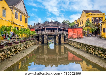japanese bridge and temple stock photo © smithore