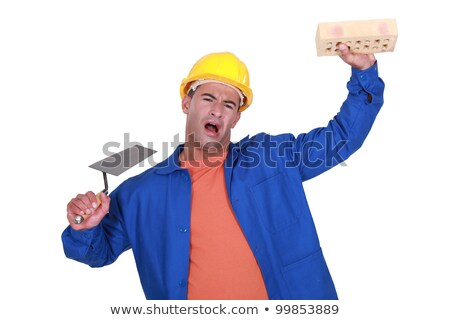 workman with trowel and sponge playing the fool Stock photo © photography33