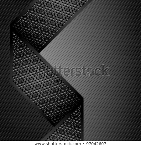 Stock photo: Metallic ribbons on gray corduroy background