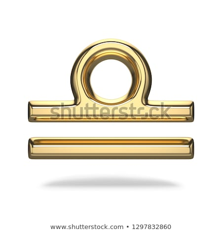 Stock photo: 3D Zodiac Sign - Libra