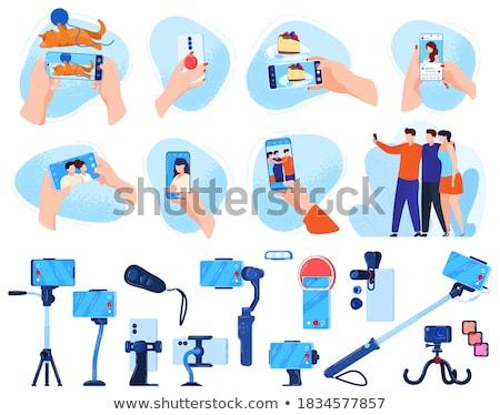 Man mobiele telefoon mobiele telefoon lopen telefoon Stockfoto © adamr