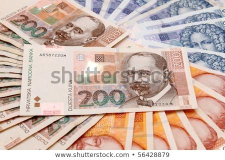 Croatian Kuna Banknotes Layed Out Zdjęcia stock © Artush
