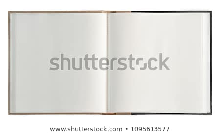 Fényképalbum nyitva rajz karton album Stock fotó © blamb