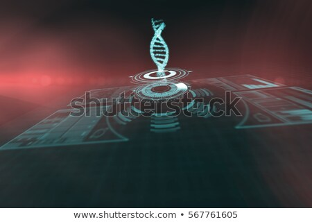 Stock photo: dna strands over black background
