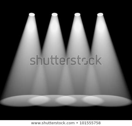 Four White Spotlights In A Row On Stage For Highlighting Product Stock photo © stuartmiles