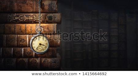 velho · livros · relógio · tempo · leitura - foto stock © stevanovicigor