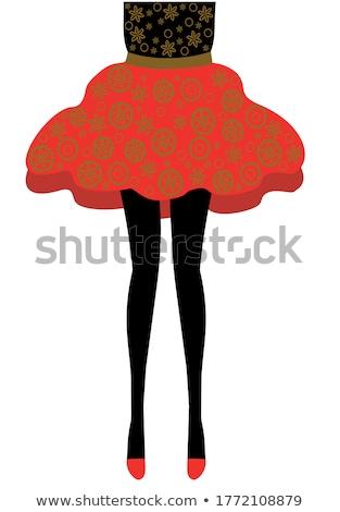 женщину · ног · желтый · обувь · изолированный · белый - Сток-фото © pzaxe