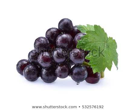 Stock photo: cluster of grapes with water drop
