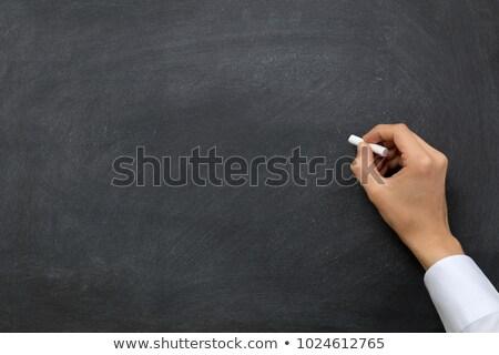黒板 · 手 · チョーク · 書く - ストックフォト © bbbar
