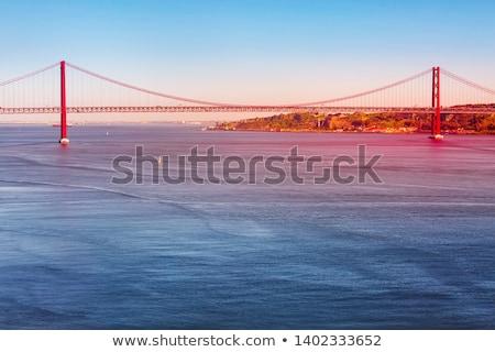 Nehir tekne şehir manzara ışık kum Stok fotoğraf © Carpeira10