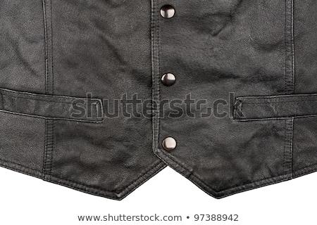 Fragment Of Leather Vest Сток-фото © Taigi