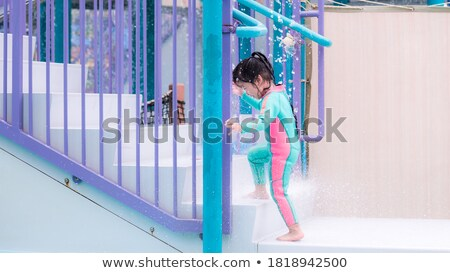 three colored childrens swimsuit stock photo © ruslanomega