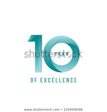 10 из отлично успех белый цвета Сток-фото © latent