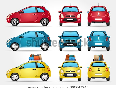 cartoon cars 3 stock photo © lkeskinen