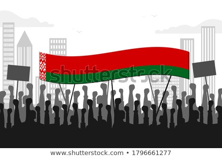 zászló · Fehéroroszország · absztrakt · felirat · szín · diagram - stock fotó © perysty