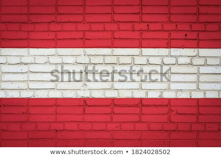 Flag of Austria on a brick wall stock photo © creisinger