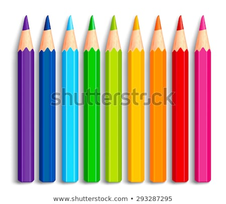 colorful crayons set isolated on white stock photo © lordalea