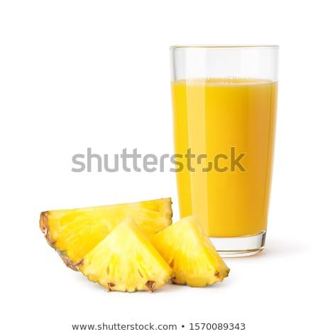 ananas · sap · witte · voedsel · glas · achtergrond - stockfoto © m-studio