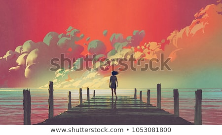 colorful surreal scenery Stock photo © prill