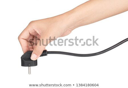 Hand holding electrical outlet Stock photo © photography33