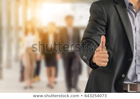 Architect and colleague giving thumbs-up Stock photo © photography33