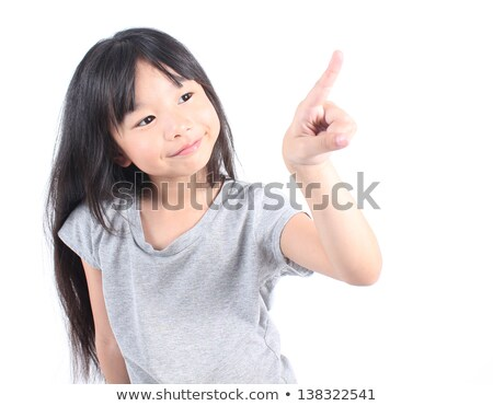 Little girl indicação papel modelo Foto stock © jirkaejc