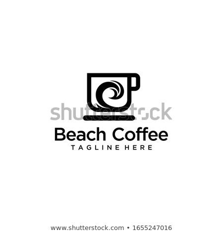 koffiebonen · mok · haven · witte · koffie · gekleurd - stockfoto © toaster