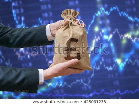 Man holding pound sign Stock photo © kjpargeter