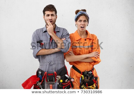 two electricians starting job together stock photo © photography33
